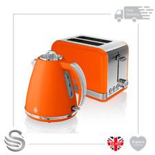 Swan Retro 1.5 Litre Jug Kettle & 2 Slice Toaster Orange-SK19020ON/ST19010ON