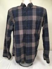 J Crew Men's Shirt Plaid Long Sleeve Button Down Black Blue Gray Size Medium