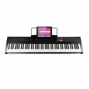 E-Keyboard RockJam RJ88DP Musik Instrument 88 Tasten digital Klavier OVP fehlt