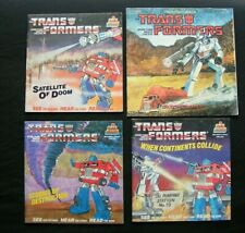 Lot 4 Vintage Transformers 1980's Children's Books Kid Stuff 1985 - Books Only