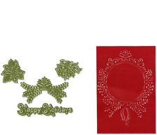 Sizzix Christmas Framelits 4 dies & 2 Embossing Folders Ornament Set #2   657976