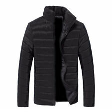 Men Stylish Winter Hooded Thick Padded Jacket Zipper Outwear Coat Warm Blouse DS