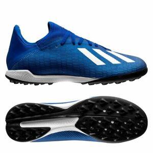 adidas X 19.3 Football Trainers Mens Astro turf Boots Black Blue UK 11,12, NEW