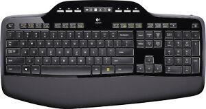 Logitech - Wireless Desktop MK710 Keyboard and Mouse - Black