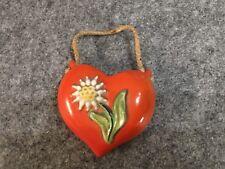 Porzellan Herzvase mit Blume VEB Zier und Werbe Porzellan Ilmenau Thüringen 50er