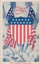 The Emblem of Democracy Patriotic Postcard - 1917