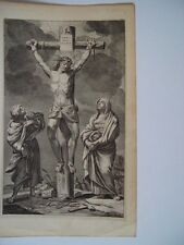 «Crucifixión» Grabado religioso antiguo.