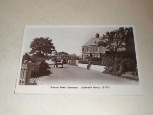 EARLY 1900s  REAL PHOTO PC - STATION ROAD, MARTHAM, NORFOLK BROADS, NORFOLK