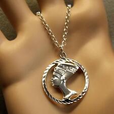 sterling silver new nefertiti pendant & chain