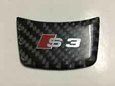 FOR AUDI S3 Sline Steering Wheel Carbon Fiber Style S Line Sticker Badge Decals