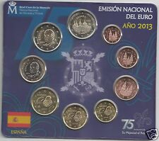 manueduc   ESPAÑA  2013  BLISTER  OFICIAL FNMT  9 Coins   Raro  NUEVO