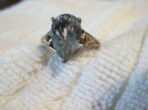 Alwand Vahan  Sterling Silver & 14K Yellow Gold Green Amethyst & Diamond Ring