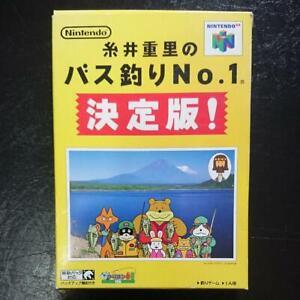 N64 Itoi Shigesato Bass Tsuri No.1 Box Nintendo 64