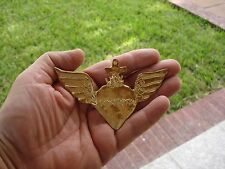 Gold Tone Milagro Heart With Cross And Large Wings Milagro Charms Exvoto