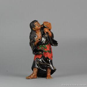 Antique 1900 Ryosai Sumida Artist Signed Japanese Porcelain Statue Liu Hai + ...