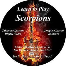 Scorpions Guitar TAB Lesson CD 185 Songs + Backing Tracks + BONUS!