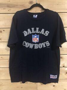 Vintage 90s Dallas Cowboys NFL Pro Line Champion T-Shirt Navy Blue Size Large