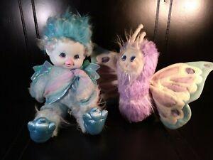 Wonder Whims 1985 Doug & Debby Henning  FEATHER Blue Plush Doll Marvin Glass