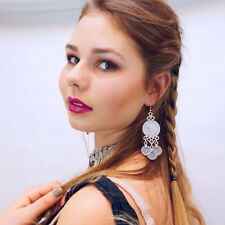 Fashion Vintage Coin Tassel Earrings Boho Gypsy Ethnic Tribal Festival Jewelry
