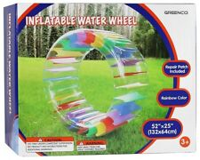 Greenco Kids Colorful Inflatable Water Wheel Roller Float 52quot Diameter