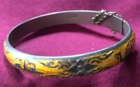 Siam Gold Niello Sterling Silver Bracelet 🌺