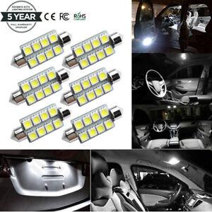 6 PCs 42MM 5050 8SMD Festoon White 212-2 578 569 Dome Map License LED Light bulb
