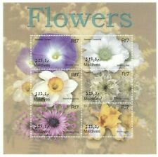 MODERN GEMS - Maldives - Flowers - Sheet Of 6 - MNH