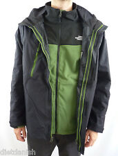The North Face Men's Condor Triclimate 3-In-1 Winter Jacket Black Green Size 2XL