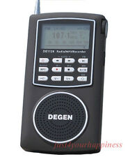 DEGEN DE1126 Digital Radio Recorder FM Stereo MW SW AM MP3 DSP ATS Txt 4GB