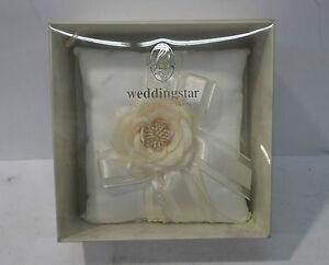 NEW Weddingstar Ring Pillow Diamond Rose ~Ivory  ~FREE SHIPPING
