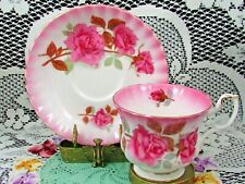 ROYAL ALBERT RADIANCE PATTERN PINK ROSES TEA CUP AND SAUCER TEACUP