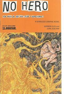 °NO HERO #2 von 7 WARREN ELLIS INDI MASTERWERK° Avatar Comics English 2008