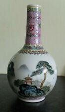 More details for  1970s famille rose chinese export zhongguo jingdezhen zhi porcelain vase
