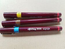 Rotring isograph 2000 3 vintage technical drawing pens 0.35  0.5, 0.70