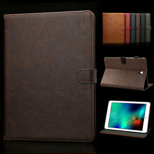 for All Apple iPad 5th 6th 7th 8th Gen 9.7 10.2 Genuine Leather Stand Case Cover