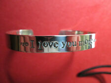 I love you more   Solid sterling silver… Not plated… Bracelet