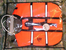 Dog Buoyancy Aid, Dog Life Jacket, Size 24kg (Medium Dog) , Orange with Handles