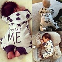 Newborn Baby Boys Girls Kids Casual Romper Bodysuit Playsuit Outfit Pajamas 0-2Y