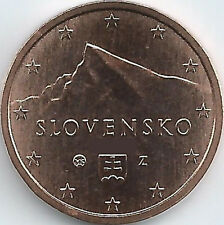 Slowakei 2 Cent Kursmünze (2009 - 2019), unzirkuliert/bankfrisch