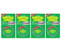 Coghlans Survival Candle 36 Hour 4 pack 3 wick Emergency Light Heat Source