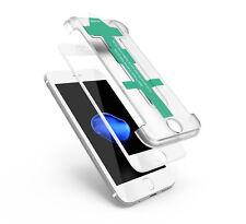 Ledeli® 3D Full Cover Schutzglas für iPhone 7 Panzerglas Glas mit Easy App Weiß