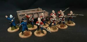 28mm Zulu War British Infantry (beautifully painted and based)