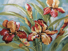 Tapestry Panels Textile Crafting Fabric Flowers Iris Watercolour 48x48 70x48