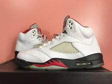 VNDS Air Jordan Retro 5 Fire Red OG size 11 2012 Grey Tongue 100% Authentic