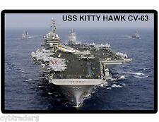 USS Kitty Hawk CV-63 Navy Ship  Refrigerator / Tool Box  Magnet Gift Card Insert