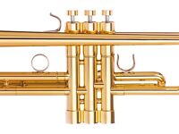 Yamaha Trumpet Trim Kit HEAVY caps. KGUBrass. 24K Gold Plated. TKHG104