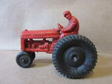 Vintage 1940s Auburn Rubber Farm Tractor Red Black Wheels