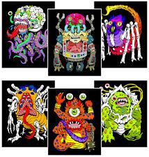6-Pack of 8x10 Velvet Posters: Monster Mash-Up