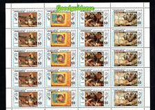 1983- Libya- Paintings- Gaugun- Rubens- Horse- Flowers- Full sheet MNH**