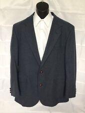 Pendleton sport coat 44 long elbow patches dark blue